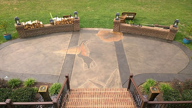 Heritage Stain concrete patio design