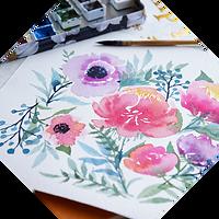 水彩画 牡丹 ケシの花.png