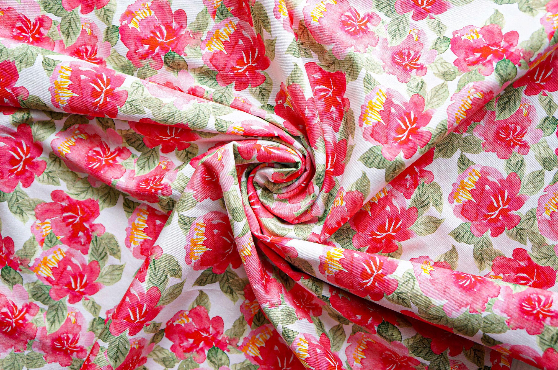 Pink Peony Fabric