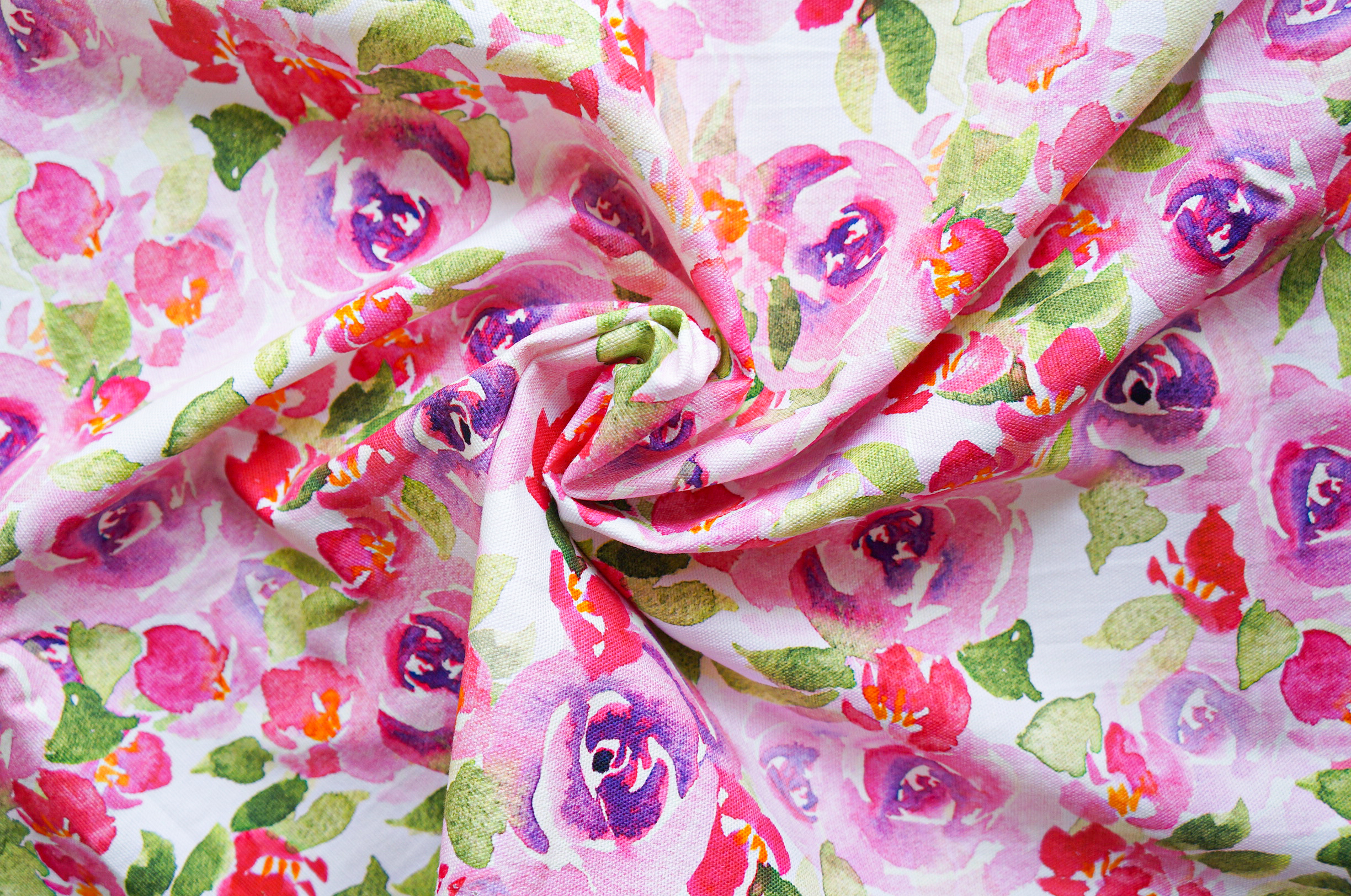 Purple Rose Fabric