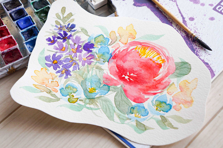 Peony & Delphinium Bouquet