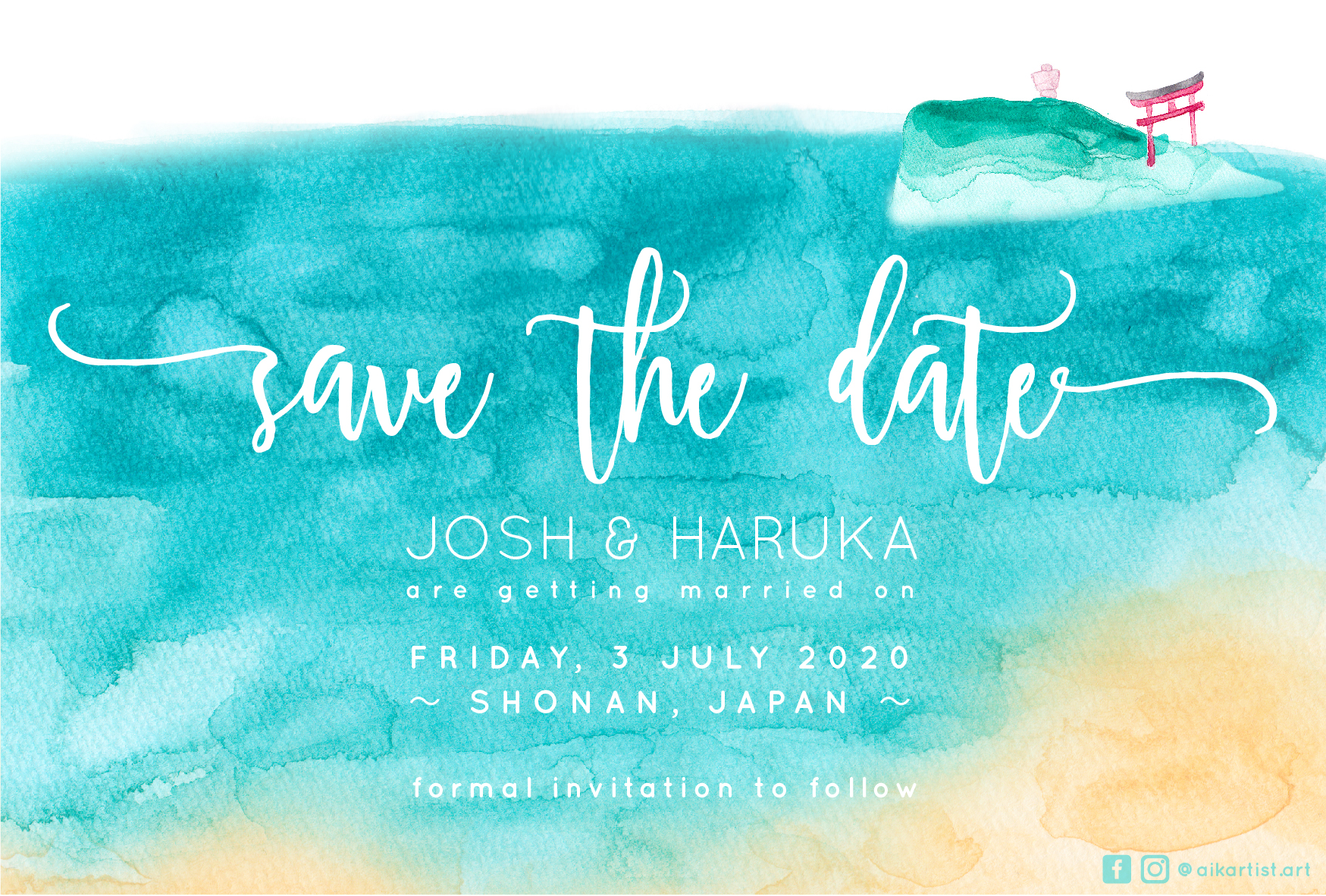 Enoshima Save The Date Card