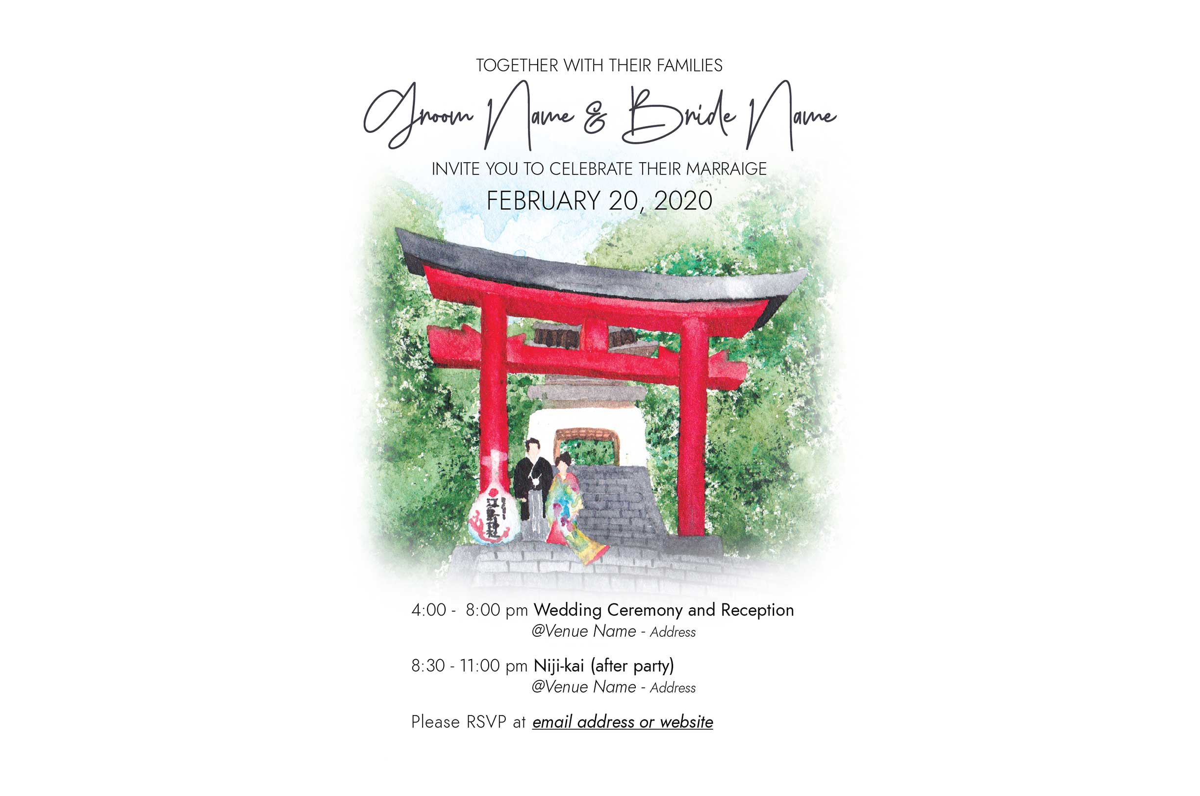 Enoshima Wedding Invitation