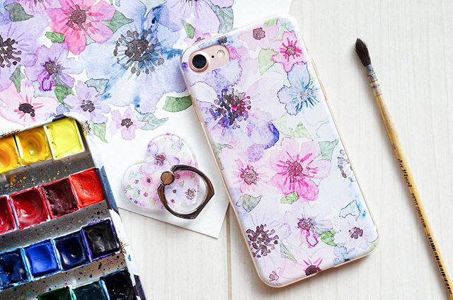 Poppy Flower Phone Case and Phone Ring