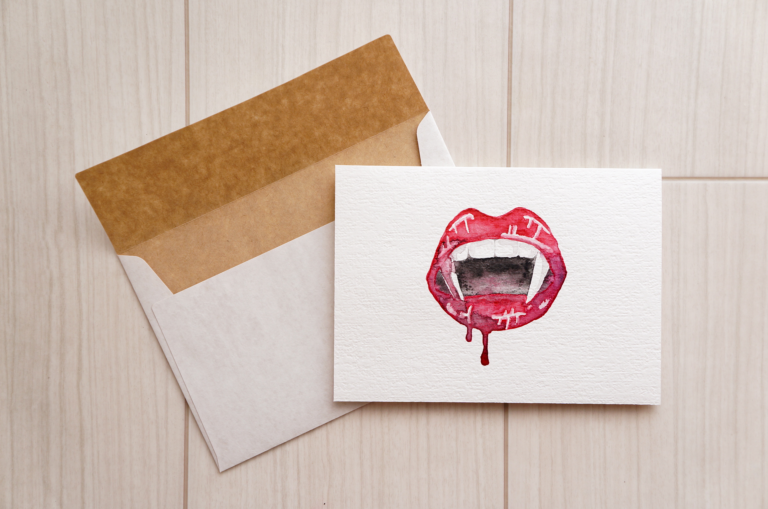 Vampire Lip Greeting Card