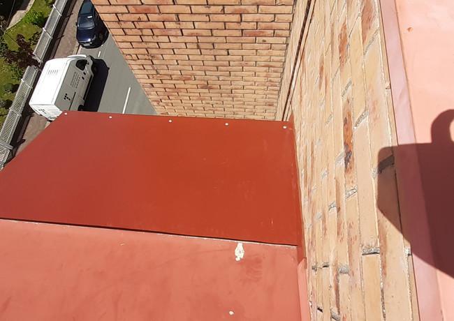 Changement tôle étanchéité avant toit