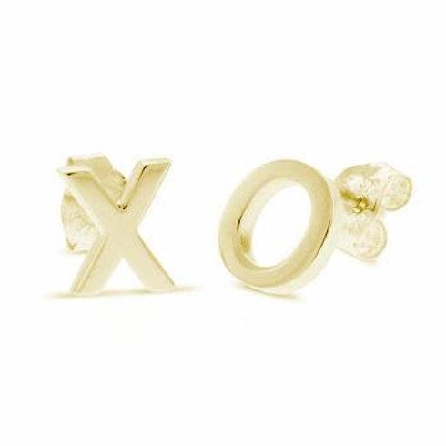 14K Yellow gold XO Earrings