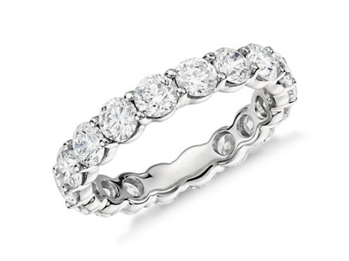 Ladies Shared Prong Eternity Band