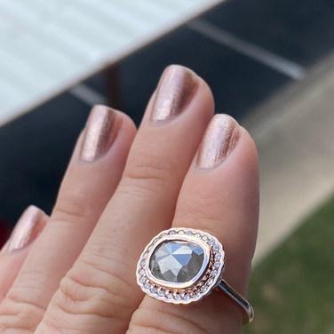 2.21 Cushion cut Silvermist Diamond