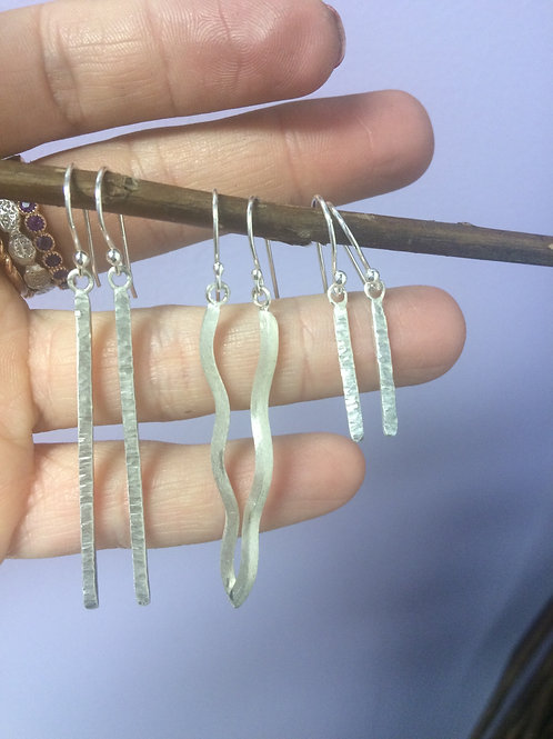 Sterling Silver Hammered Truth Earrings