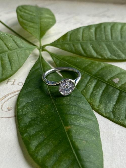 "Gold ""Brittany"" Bezel Engagement Ring Setting"