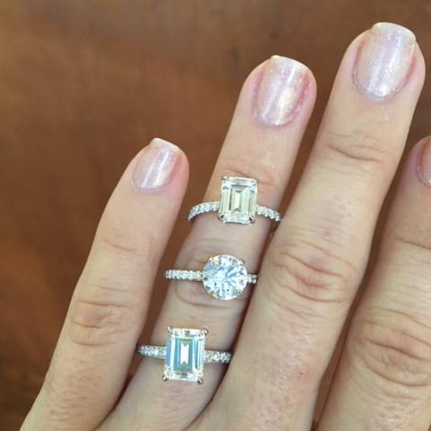 Three Custom Engagement Rings