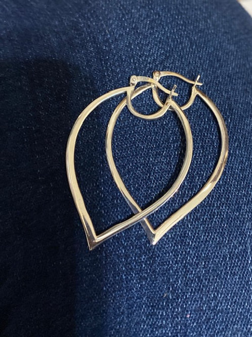 Sterling Silver Drop Hoops