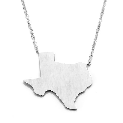 Sterling Silver Texas Necklace