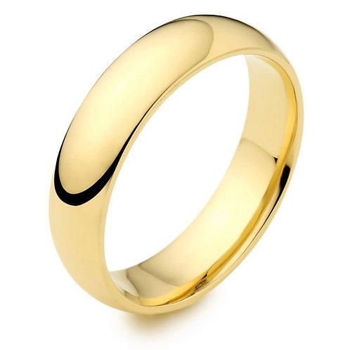 Ladies 14K Gold 3mm Half Round Wedding Band