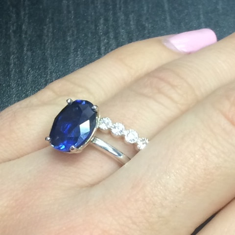 Custom Oval Sapphire Ring