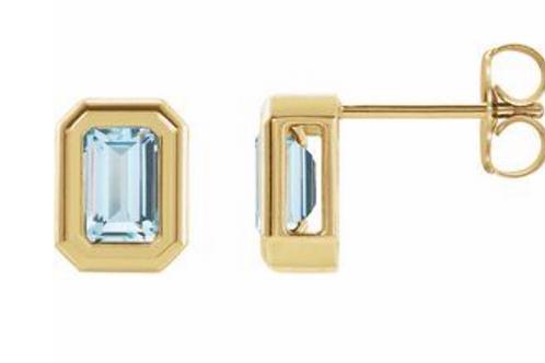 """14k Gold """"Stella"""" Stud Earrings"""
