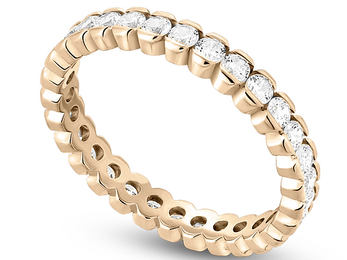 14K Gold Scalloped Eternity band