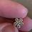 Thumbnail: 14K Gold Diamond Flower Pendant