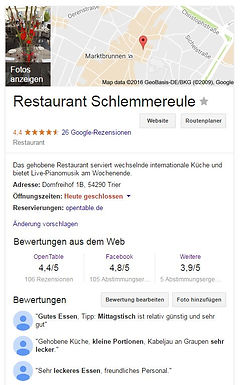 Google My Business Beispiel