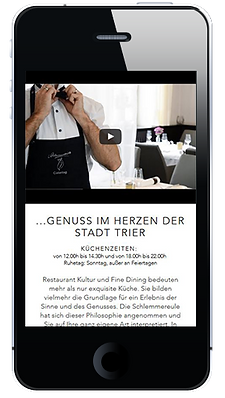 Beispiel für mobil-optimierte Seite
