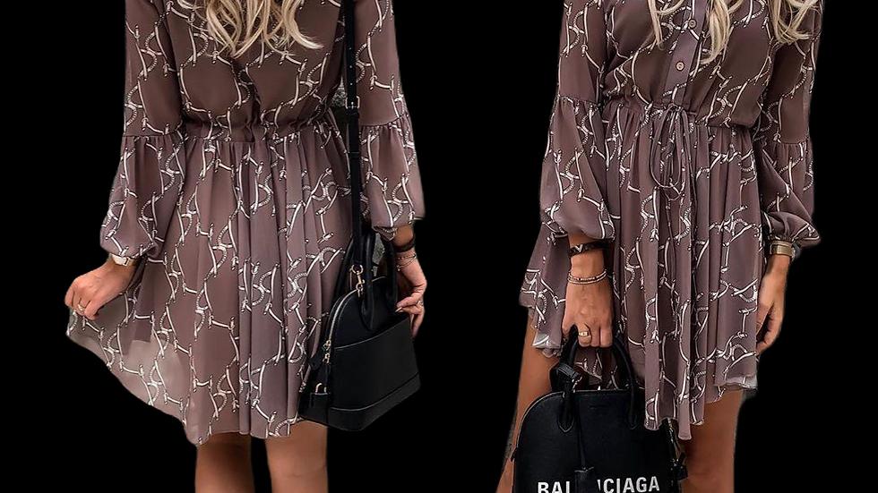 Dijital Baskı Şifon Elbise