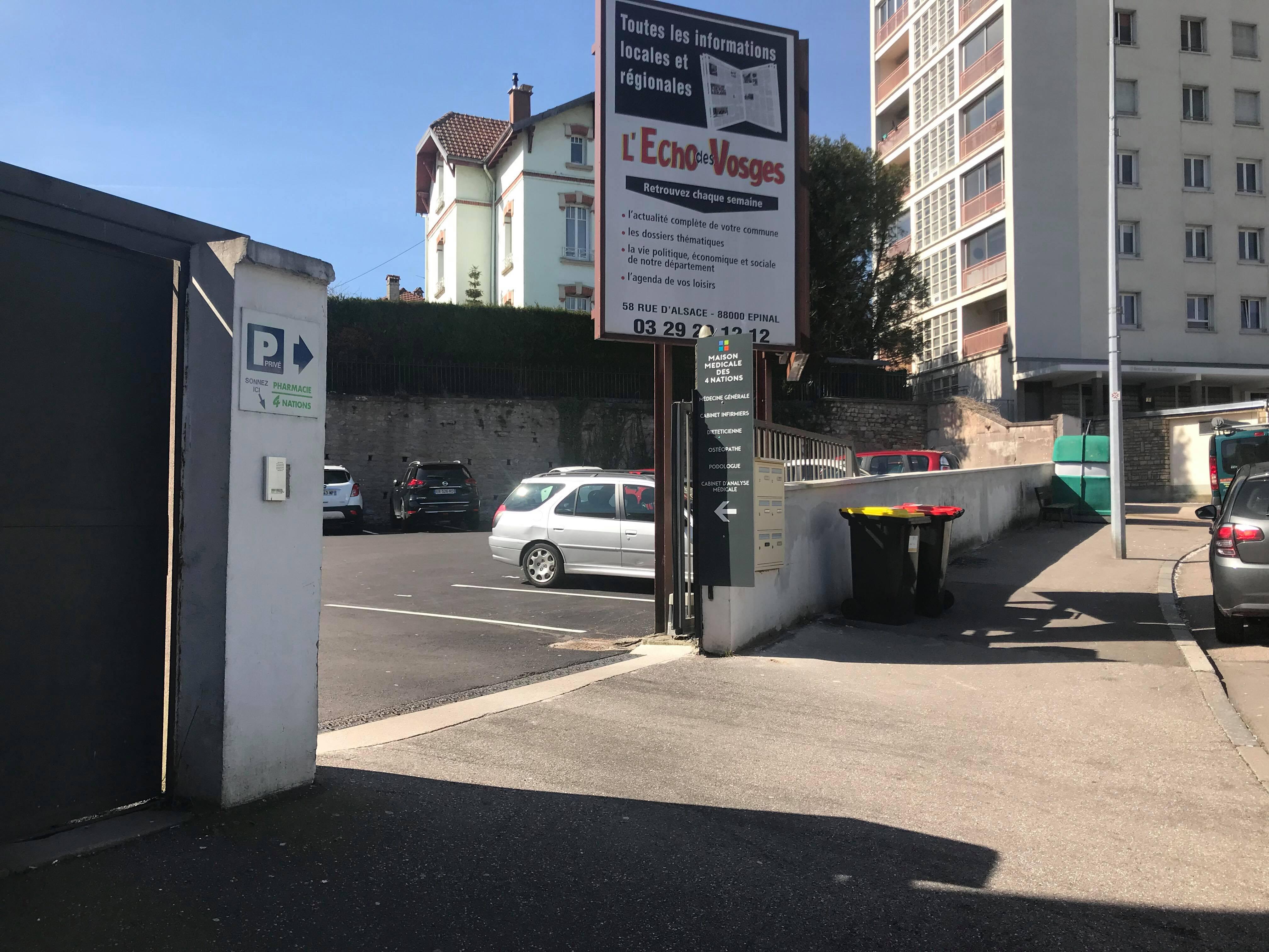 Entrée parking