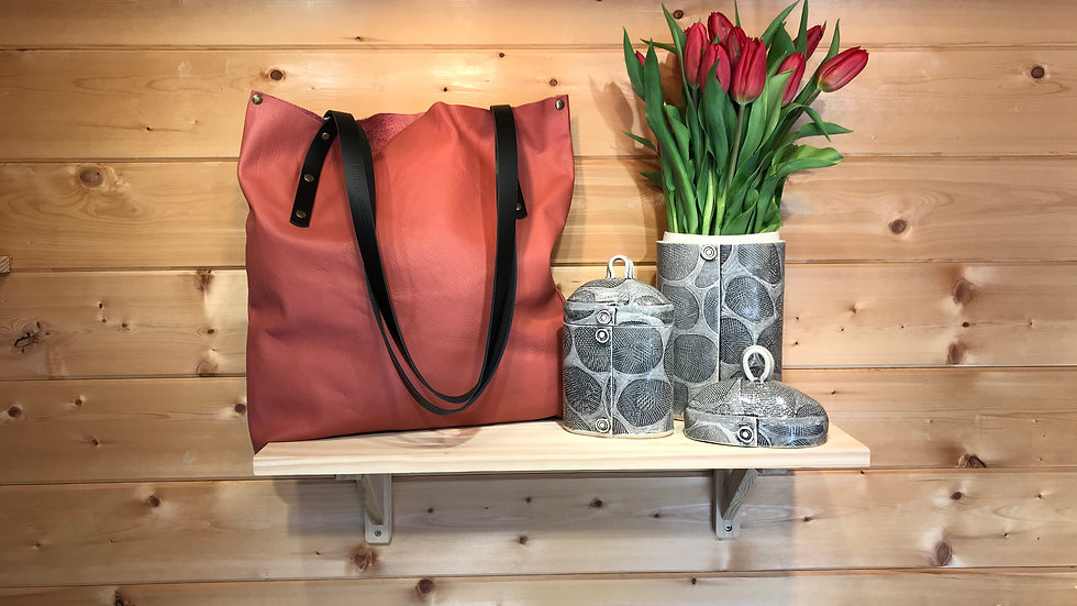 BETTY : Recycled Large LeatherTote/Shopper