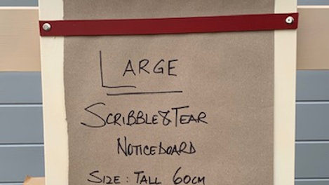 Scribble & Tear Noticeboard