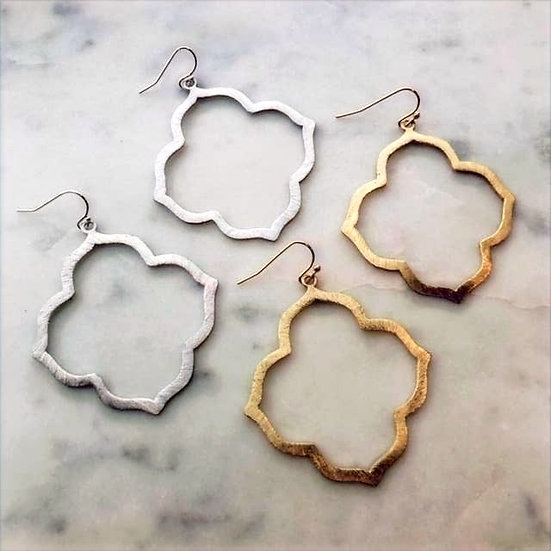 Quatrefoil Earrings in Gold or Silver