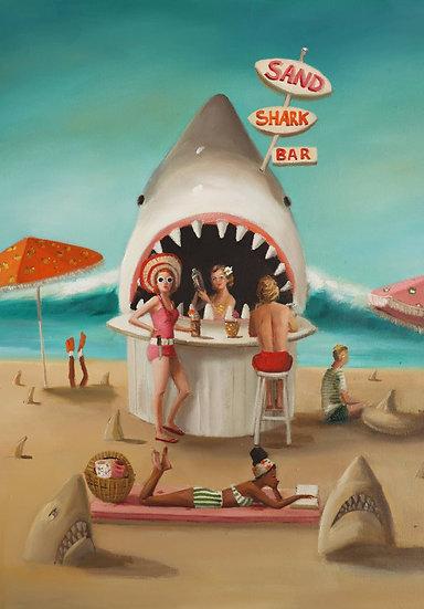 Sand Shark Bar Art Print