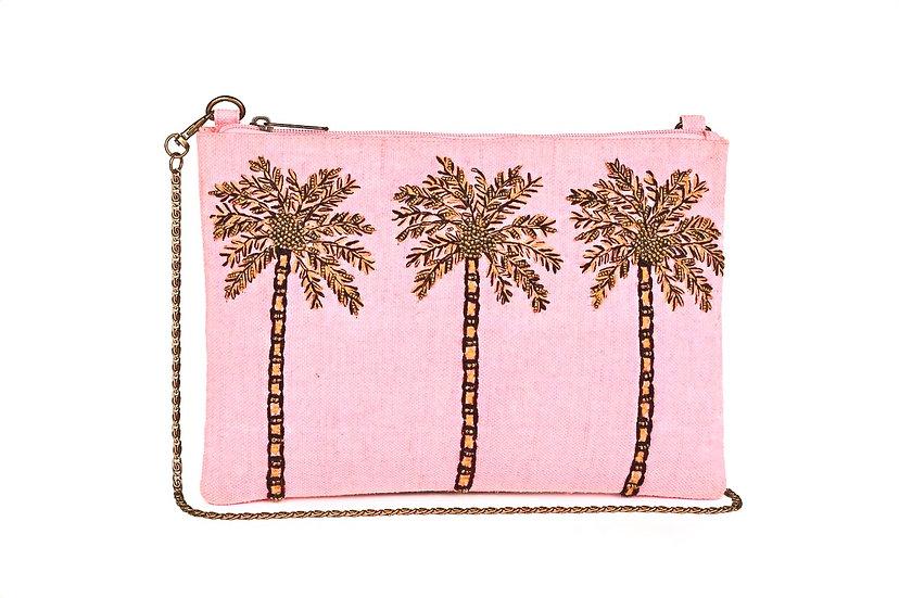 Paradise Palm Clutch