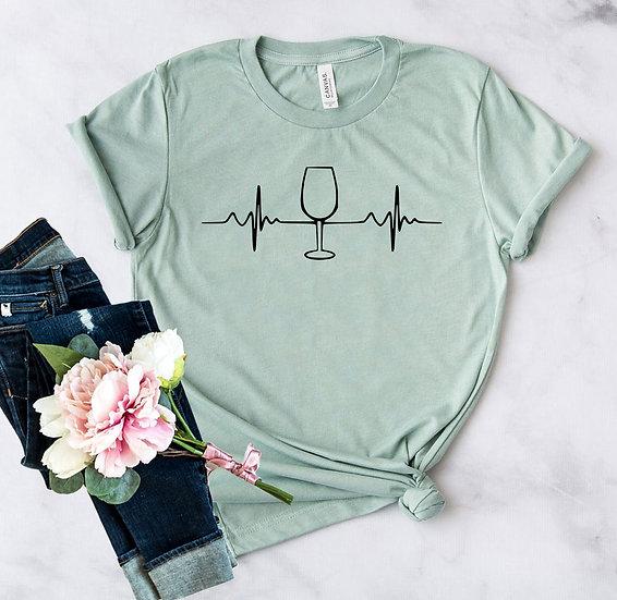 Wine Heartbeat Shirt