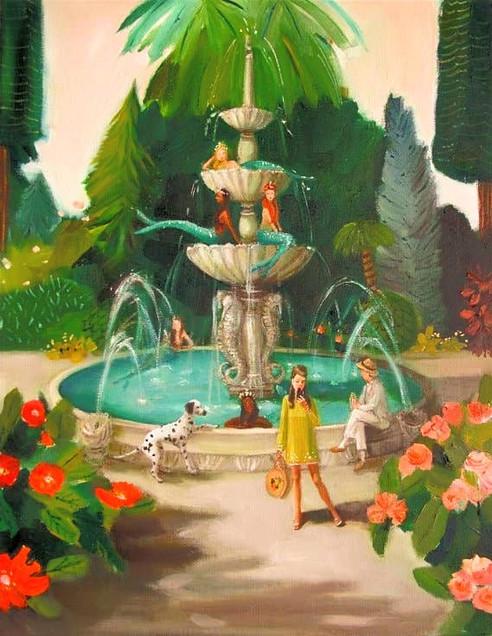 Selfie at the Mermaid Fountain