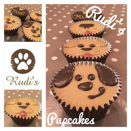 Dog Face Pupcakes - Box of 4