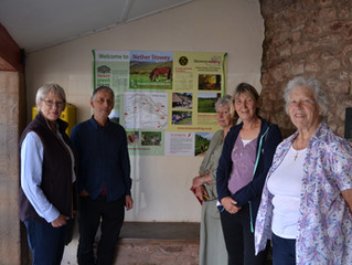 Nether Stowey welcomes new initiatives for visitors: Launch of Interpretation Board and Village Sign