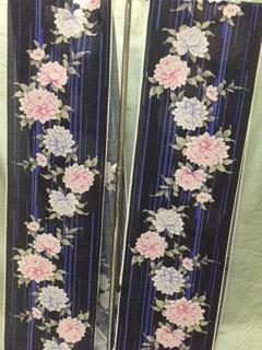 浴衣(紺、花)