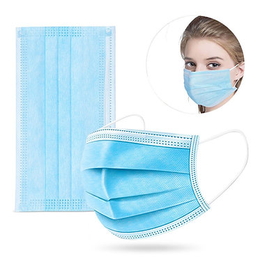 3-Ply Disposable Face Mask, Non-Medical (Box of 50)