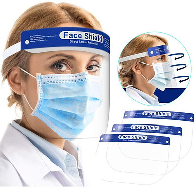 Face Shield, w Adjustable Elastic Strap