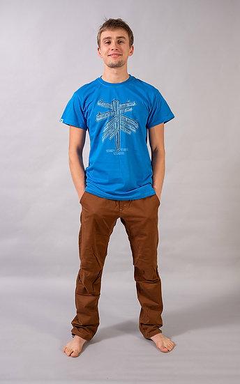 Signpost t-shirt Blue