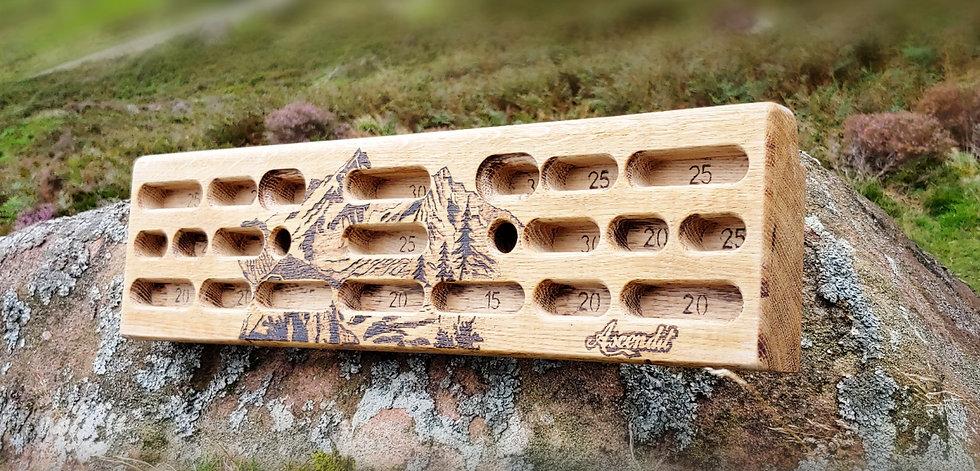 Engraved Solid Oak Training Fingerboard