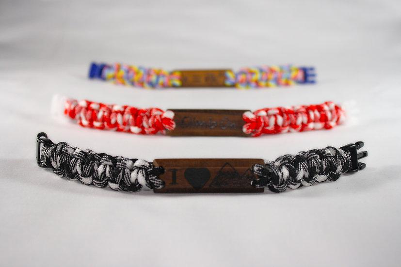 """I love mountain"" paracord bracelet 20cm"
