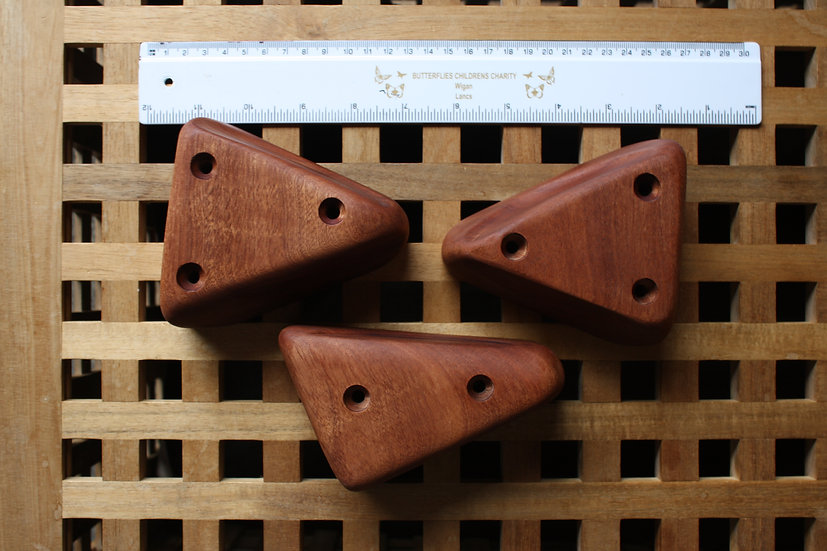 Wooden Climbing Holds set of 3