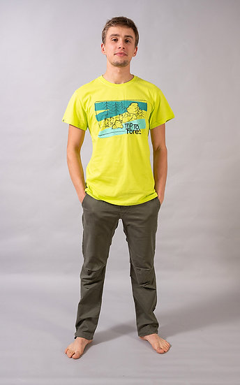 Trip to forest t-shirt Yellow