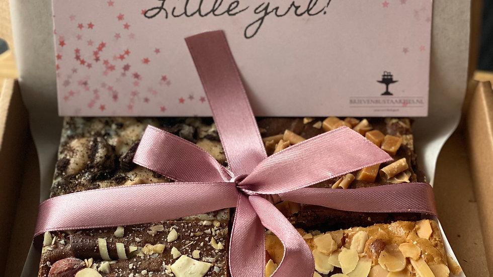 Geboorte taartbox 1 persoon. Boy or Girl