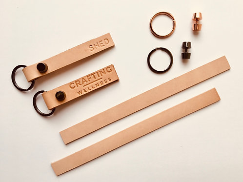 Refill kit materials - leather key ring