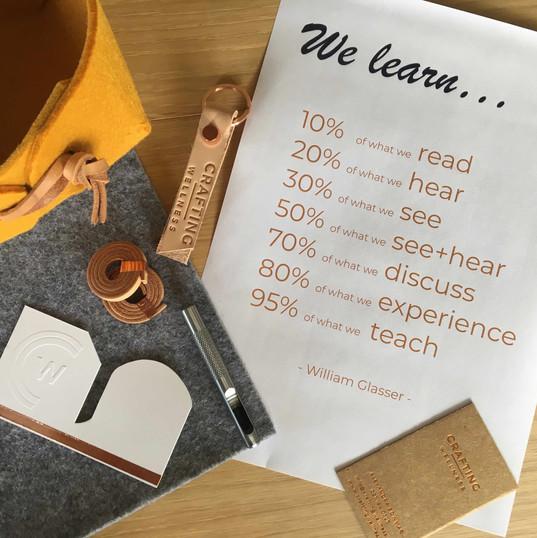 how we learn Crafting Wellness