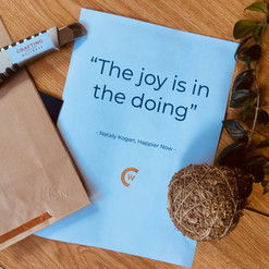 The joy is in the doing