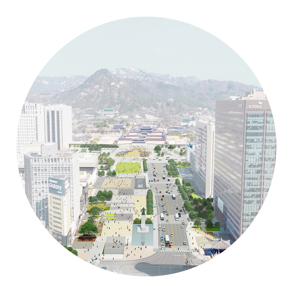 Studio MRDO won Honorable mention in International Design Competition for New Gwanghwamun Square