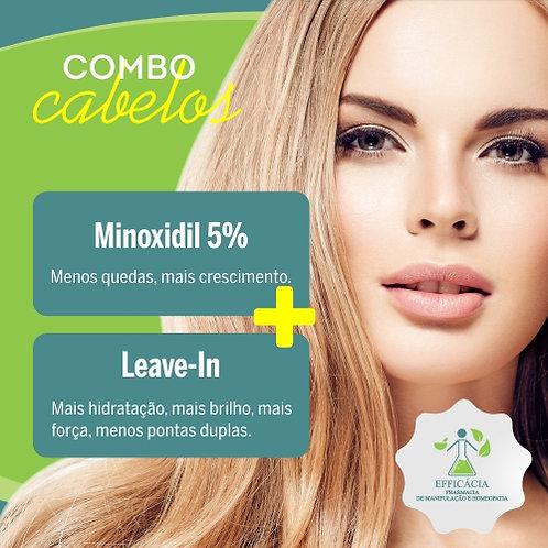 Minoxidil 5% com Propilenoglicol + Leave-in